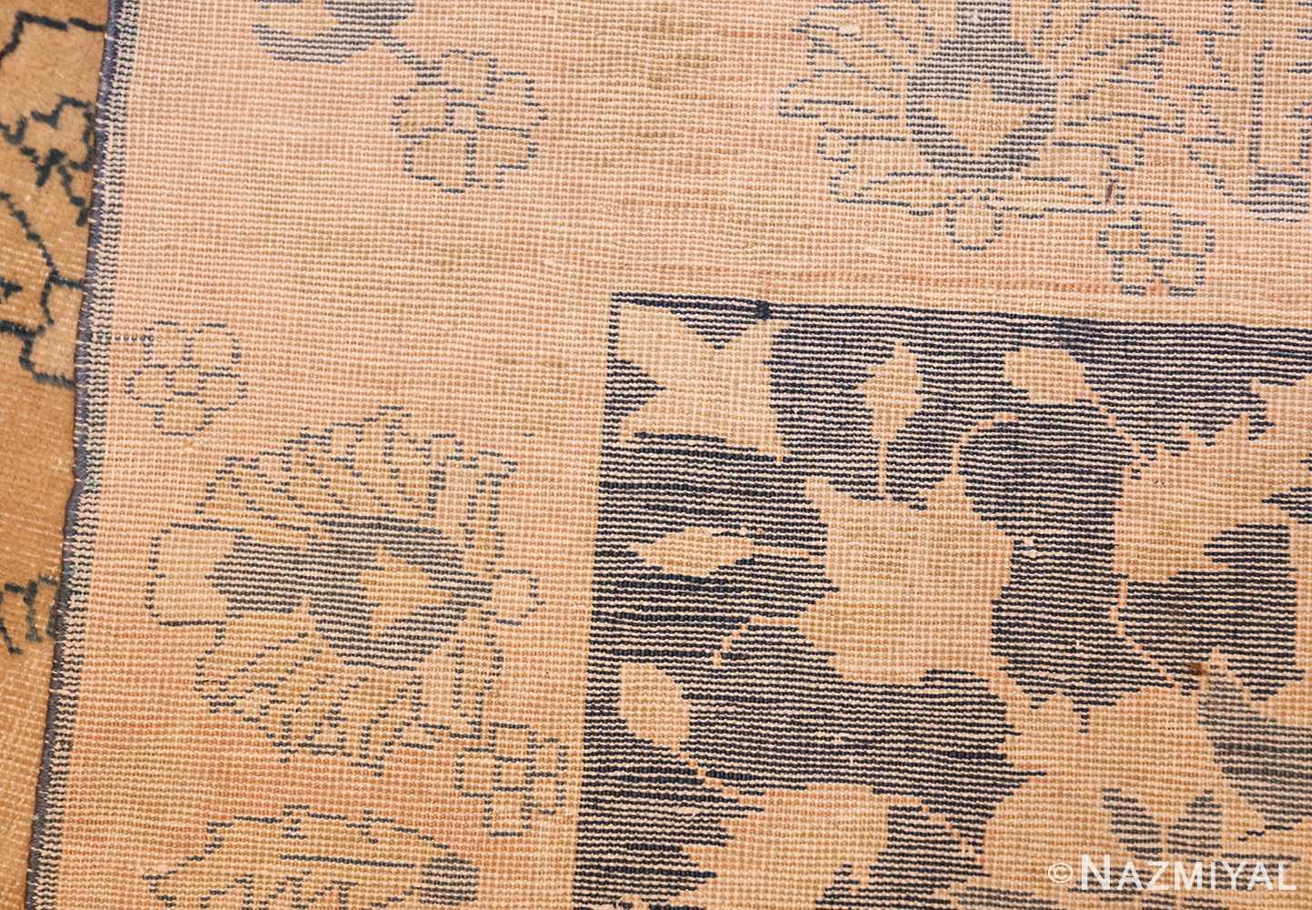 antique large indian agra rug 49167 weave Nazmiyal