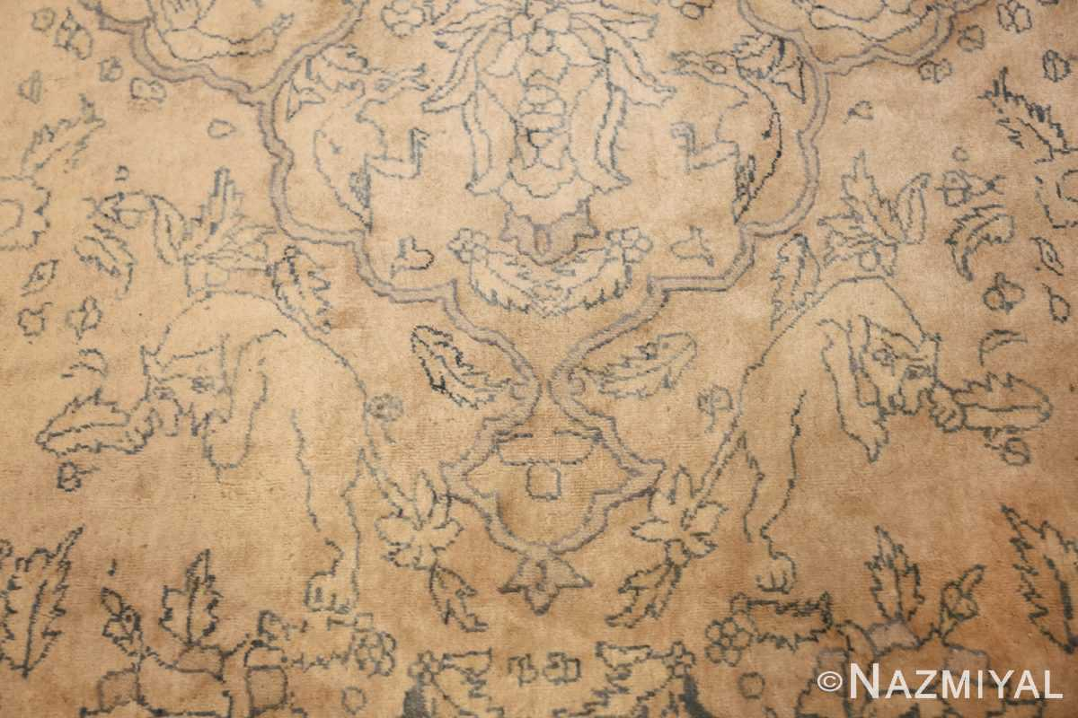 antique large indian agra rug 49167 wolves Nazmiyal