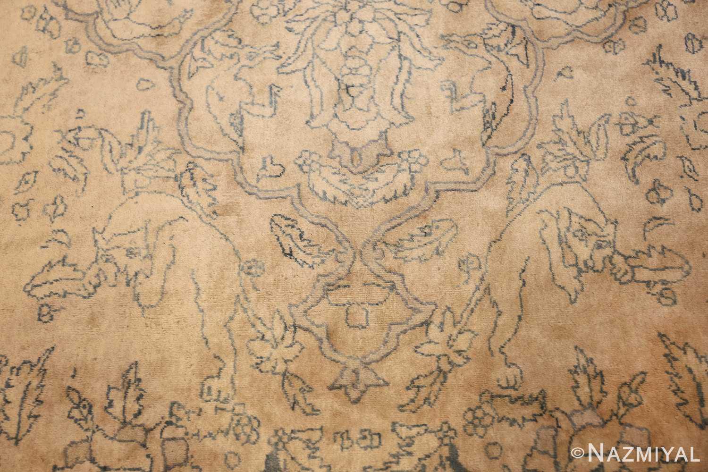 antique large indian agra rug 49167 wolves Nazmiyal