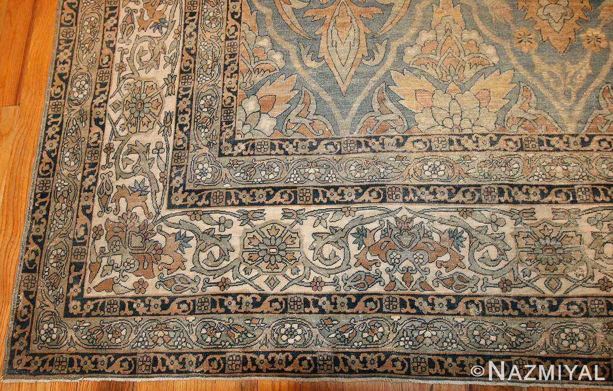 antique light blue persian kerman rug 48234 border Nazmiyal