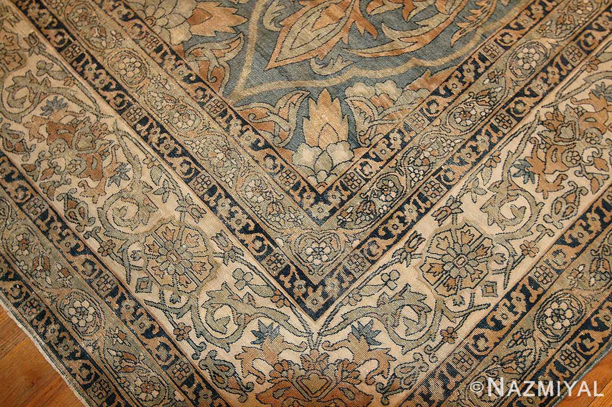 antique light blue persian kerman rug 48234 corner Nazmiyal