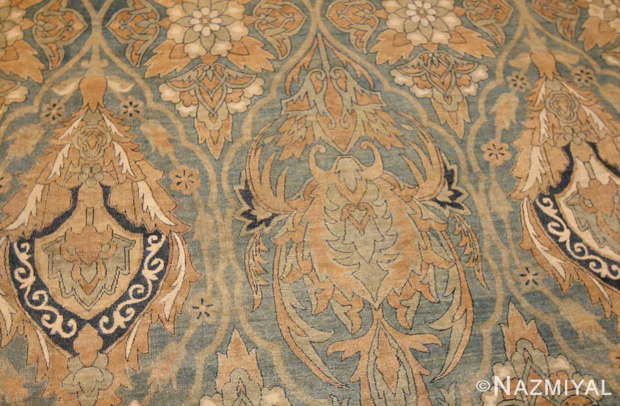 antique light blue persian kerman rug 48234 field Nazmiyal