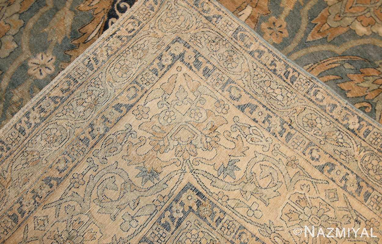 antique light blue persian kerman rug 48234 weave Nazmiyal