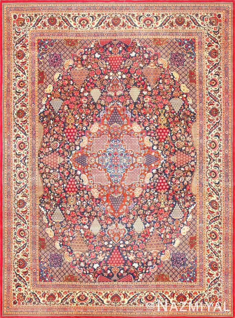 antique persian kashan dabir rug 49193 Nazmiyal