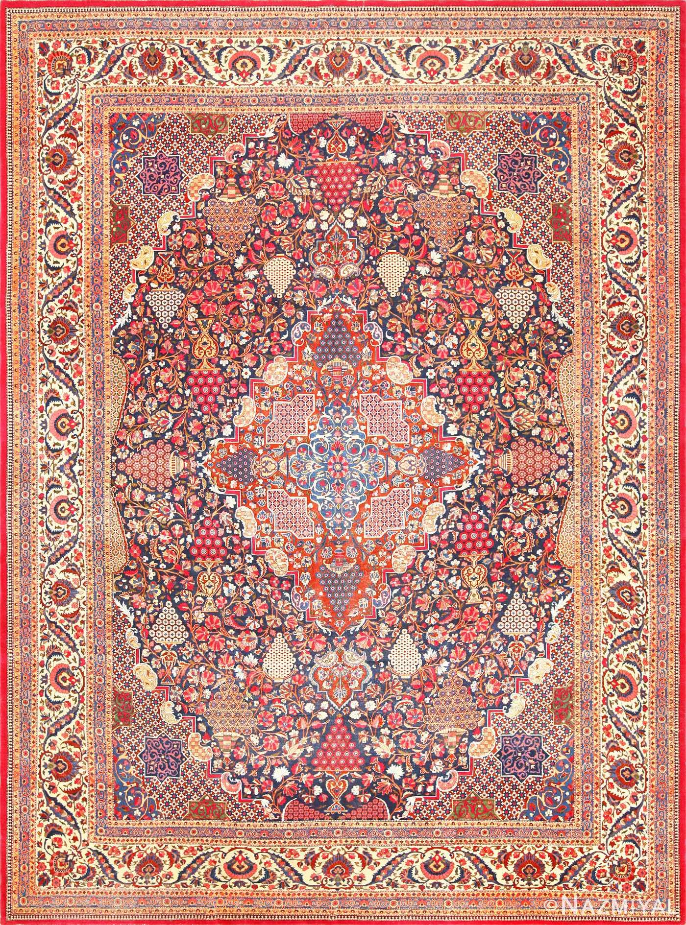 antique persian kashan dabir rug 49193 Nazmiyal