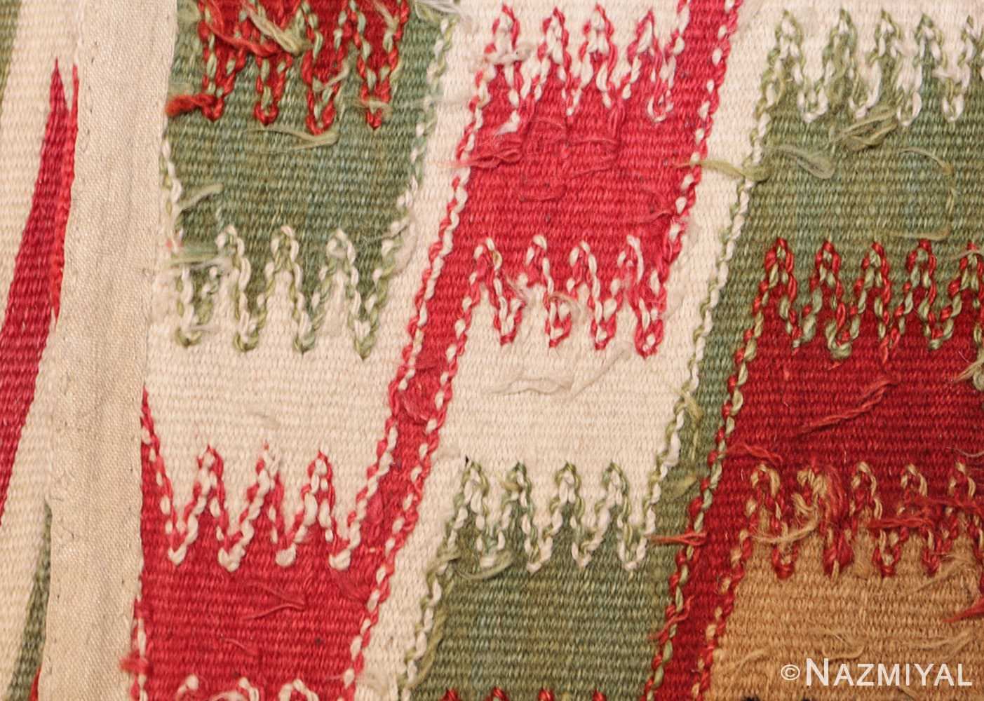 antique scandinavian swedish kilim runner 49124 weave Nazmiyal