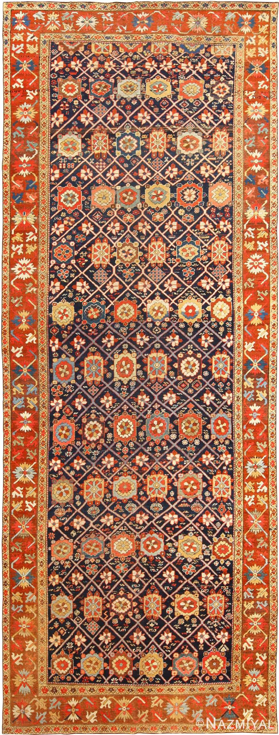 Antique Tribal Northwest Persian Gallery Size Rug 49161 Nazmiyal