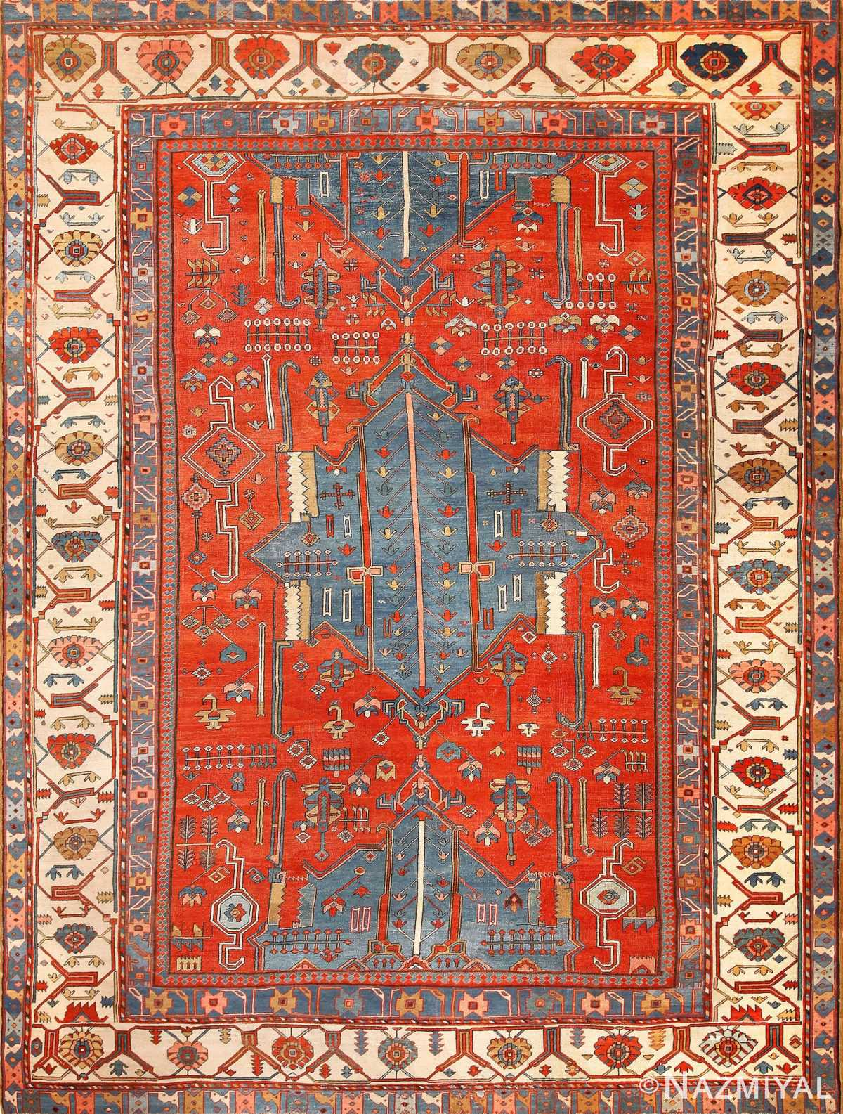 antique tribal persian bakshaish rug 49137 Nazmiyal