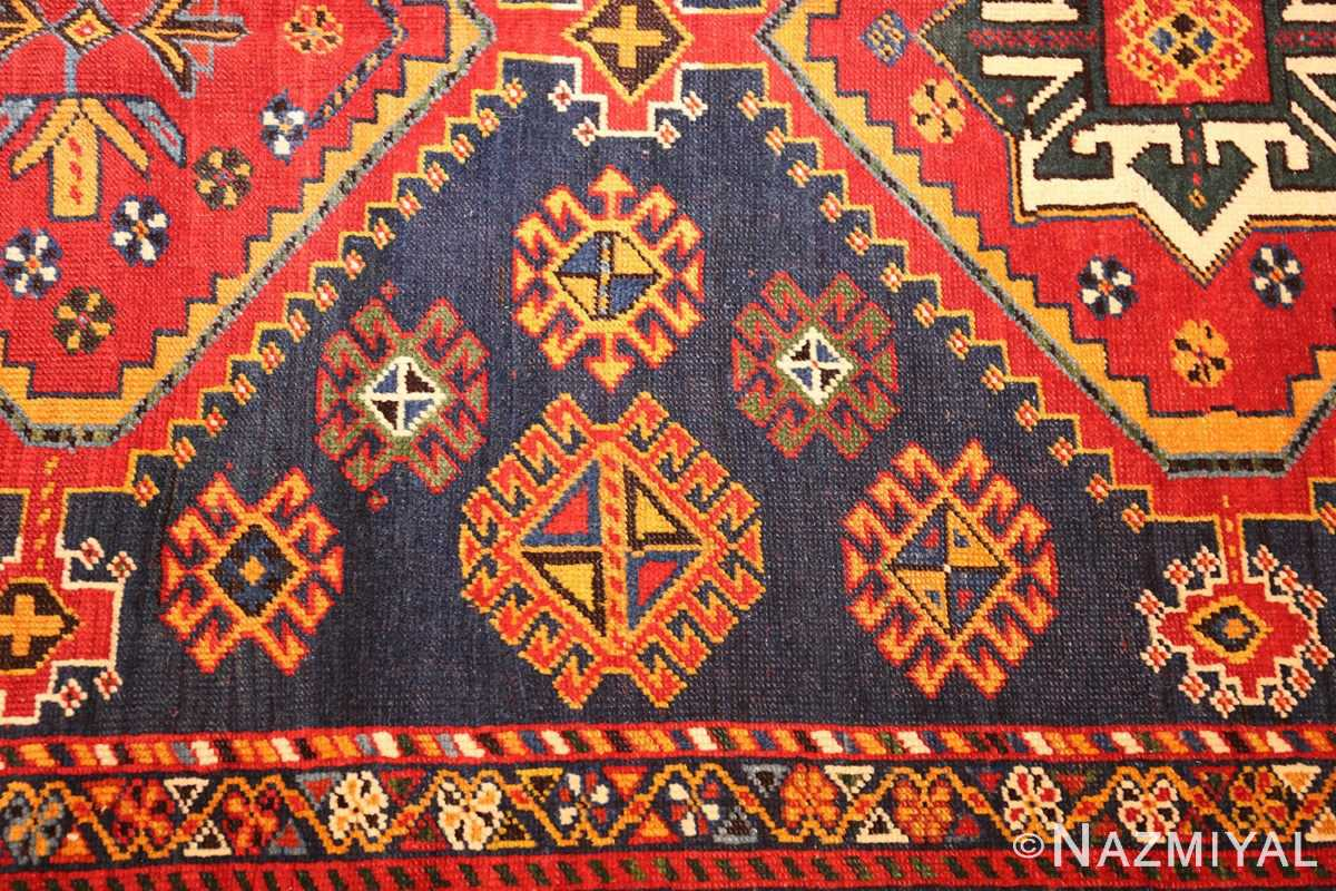 antique tribal persian qashqai rug 49152 design Nazmiyal