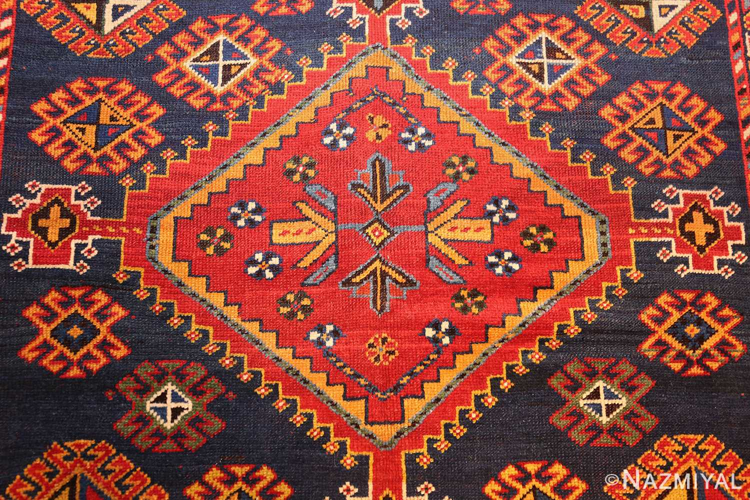 antique tribal persian qashqai rug 49152 medallion Nazmiyal