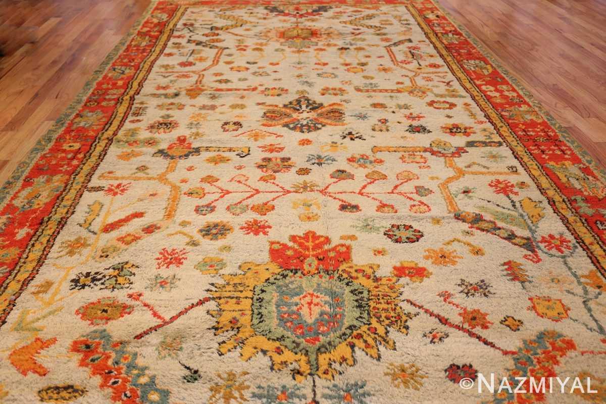 antique turkish oushak rug with arts and crafts design 49146 whole Nazmiyal