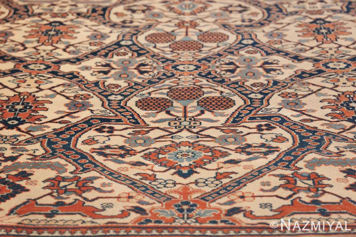 extremely fine antique persian haji jalili tabriz rug 49170 closeup Nazmiyal