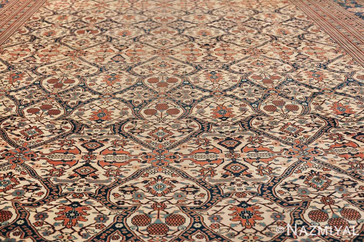 extremely fine antique persian haji jalili tabriz rug 49170 field Nazmiyal