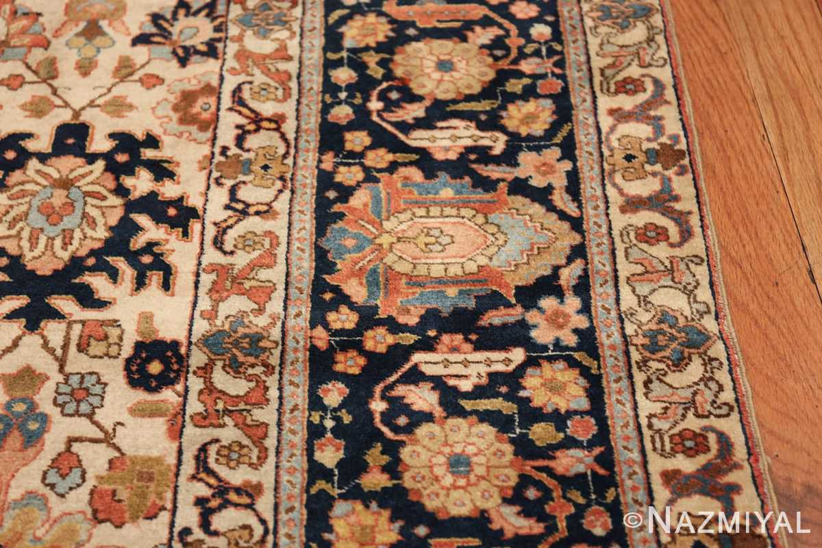 fine antique ivory background persian tabriz rug 49191 border Nazmiyal