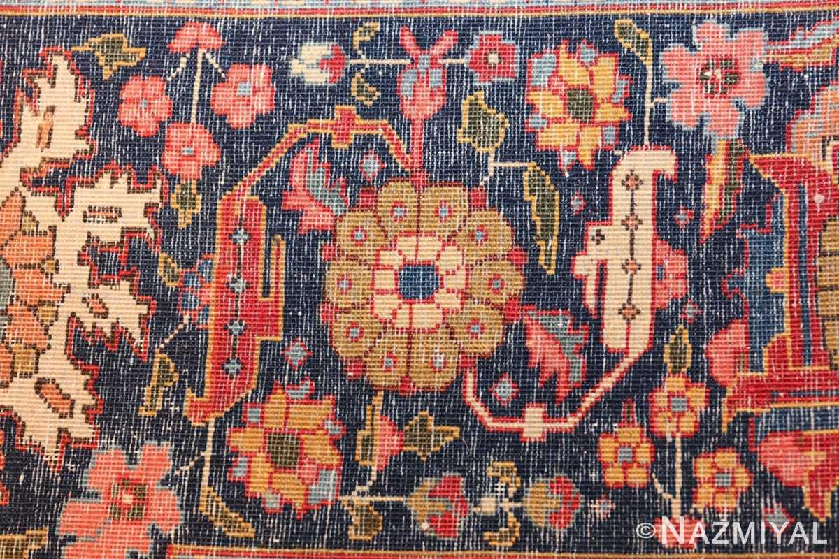 fine antique ivory background persian tabriz rug 49191 knots Nazmiyal