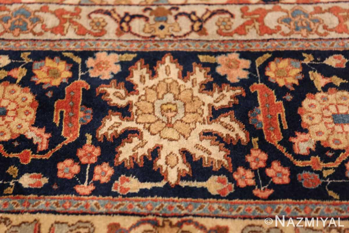 fine antique ivory background persian tabriz rug 49191 part Nazmiyal