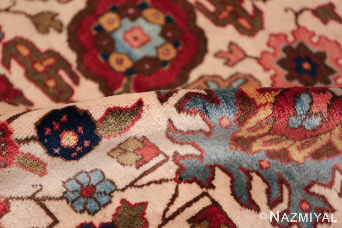 fine antique ivory background persian tabriz rug 49191 pile Nazmiyal