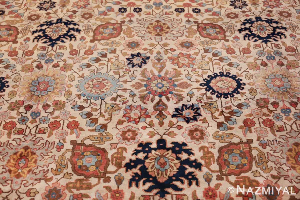 fine antique ivory background persian tabriz rug 49191 red Nazmiyal