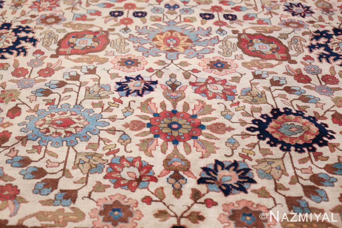 fine antique ivory background persian tabriz rug 49191 shape Nazmiyal