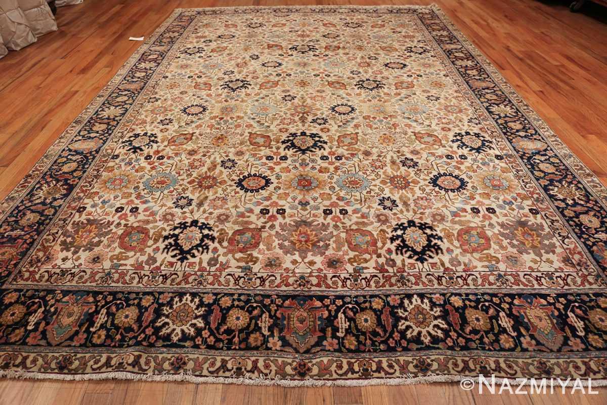 fine antique ivory background persian tabriz rug 49191 whole Nazmiyal