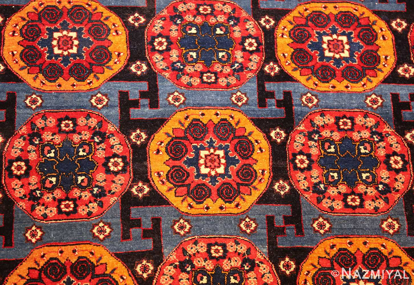 fine antique persian senneh rug 49106 field Nazmiyal