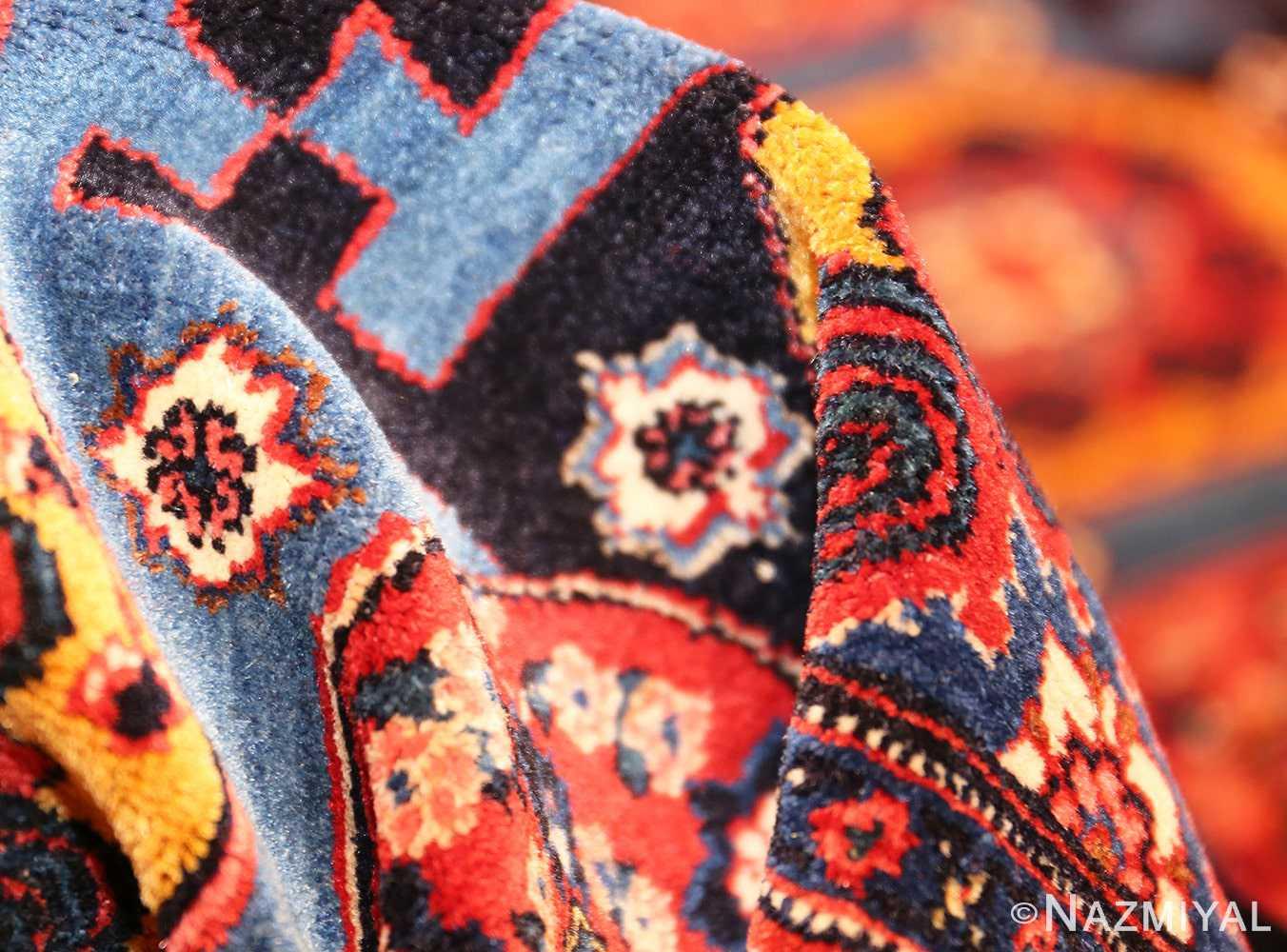 fine antique persian senneh rug 49106 pile Nazmiyal