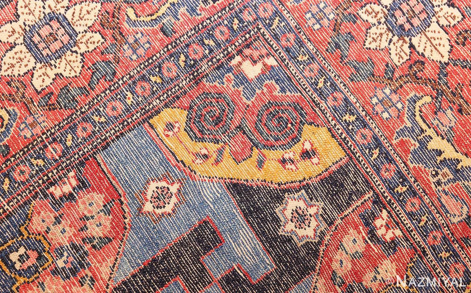 fine antique persian senneh rug 49106 weave Nazmiyal