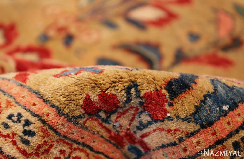 gold background antique persian sarouk farahan rug 49169 pile Nazmiyal
