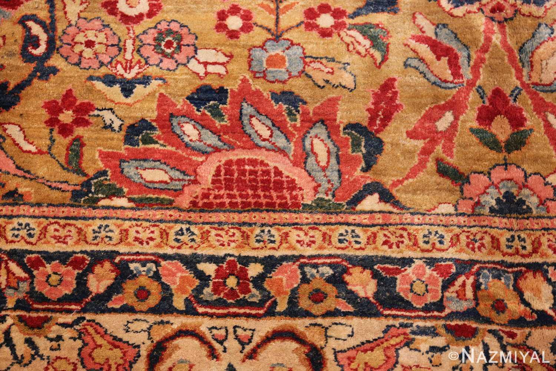 gold background antique persian sarouk farahan rug 49169 red Nazmiyal