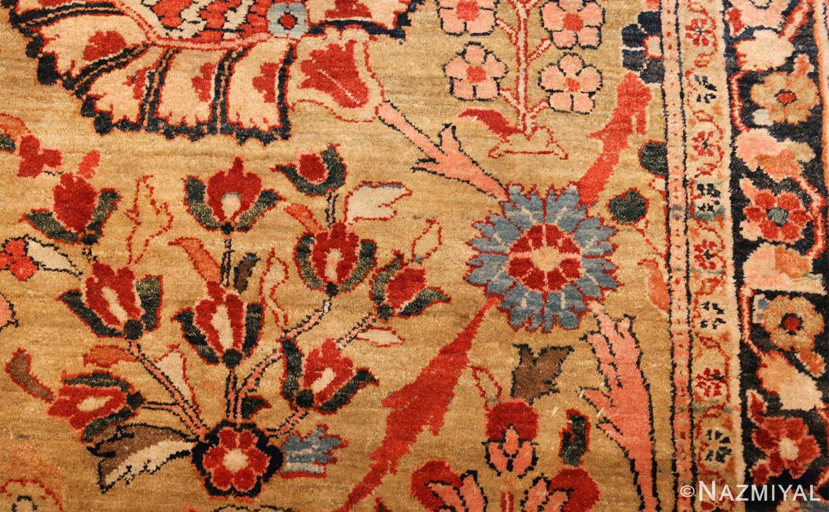 gold background antique persian sarouk farahan rug 49169 texture Nazmiyal