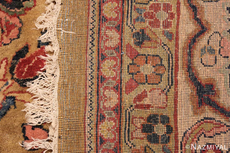 gold background antique persian sarouk farahan rug 49169 weave Nazmiyal