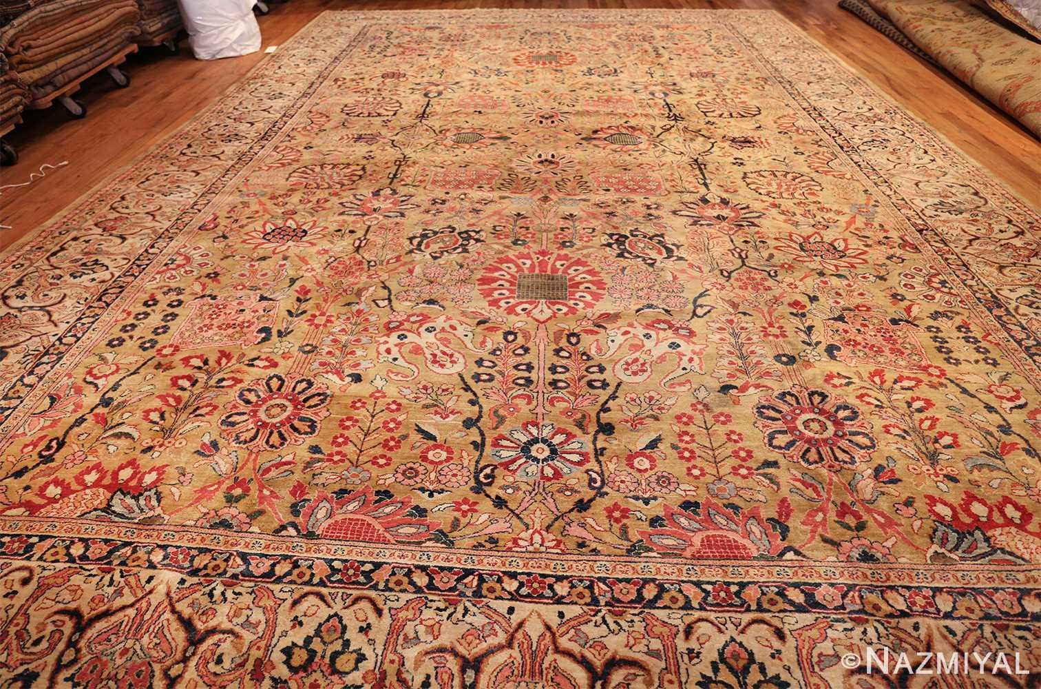 gold background antique persian sarouk farahan rug 49169 whole Nazmiyal