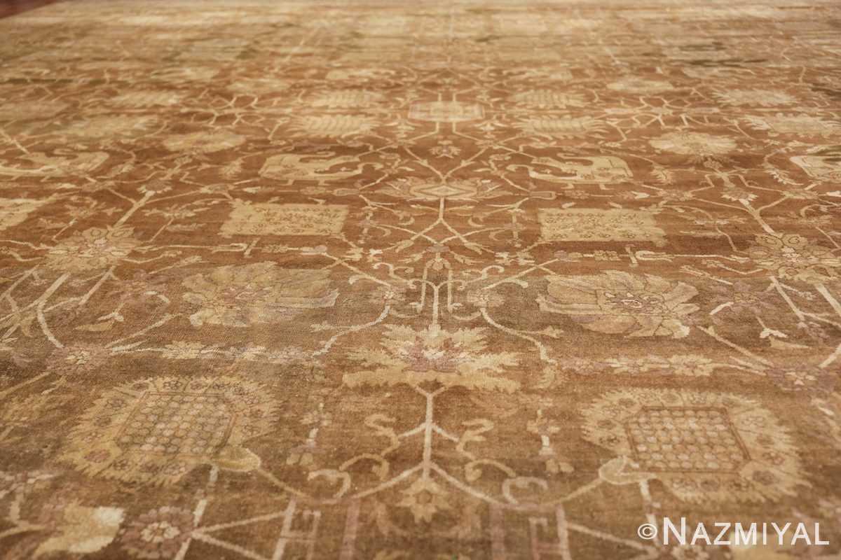 Large Antique Vase Design Indian Amritsar Rug 50341 Golden Leaves Nazmiyal