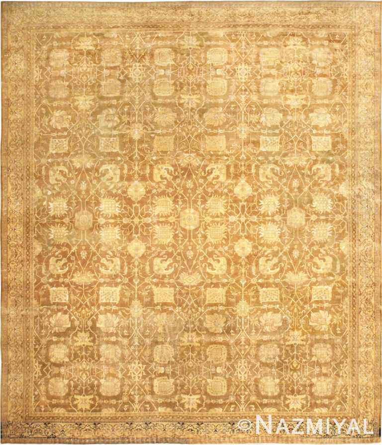 Large Antique Vase Design Indian Amritsar Rug 50341 Nazmiyal