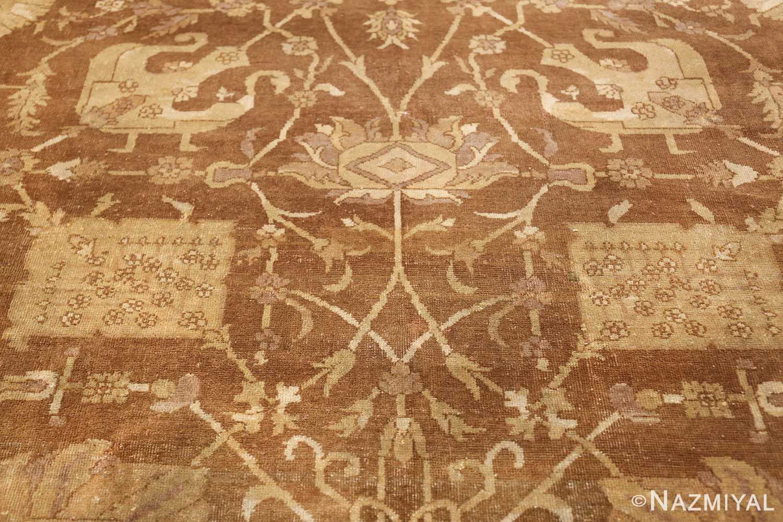 Large Antique Vase Design Indian Amritsar Rug 50341 Scrolls Nazmiyal