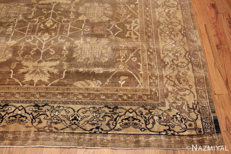 Large Antique Vase Design Indian Amritsar Rug 50341 Side Corner Nazmiyal