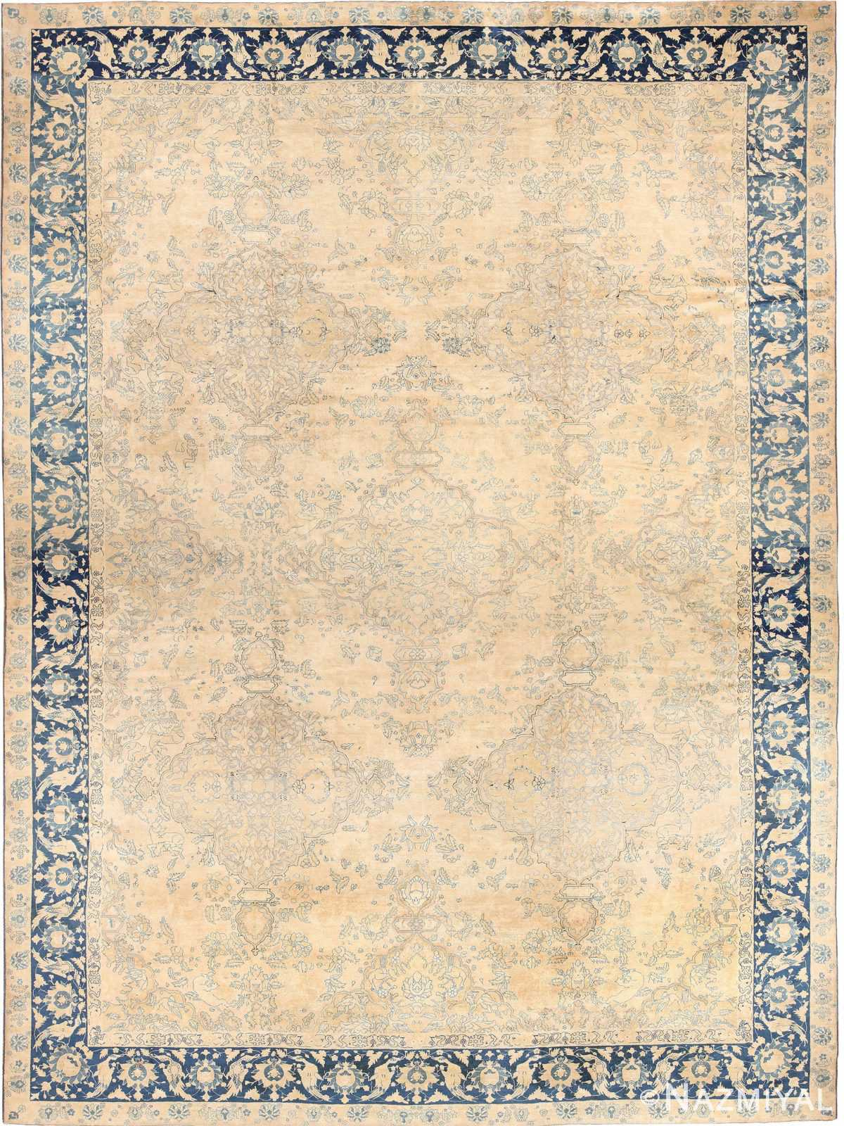 Large Oversized Decorative Antique Indian Agra Rug 49167 Nazmiyal