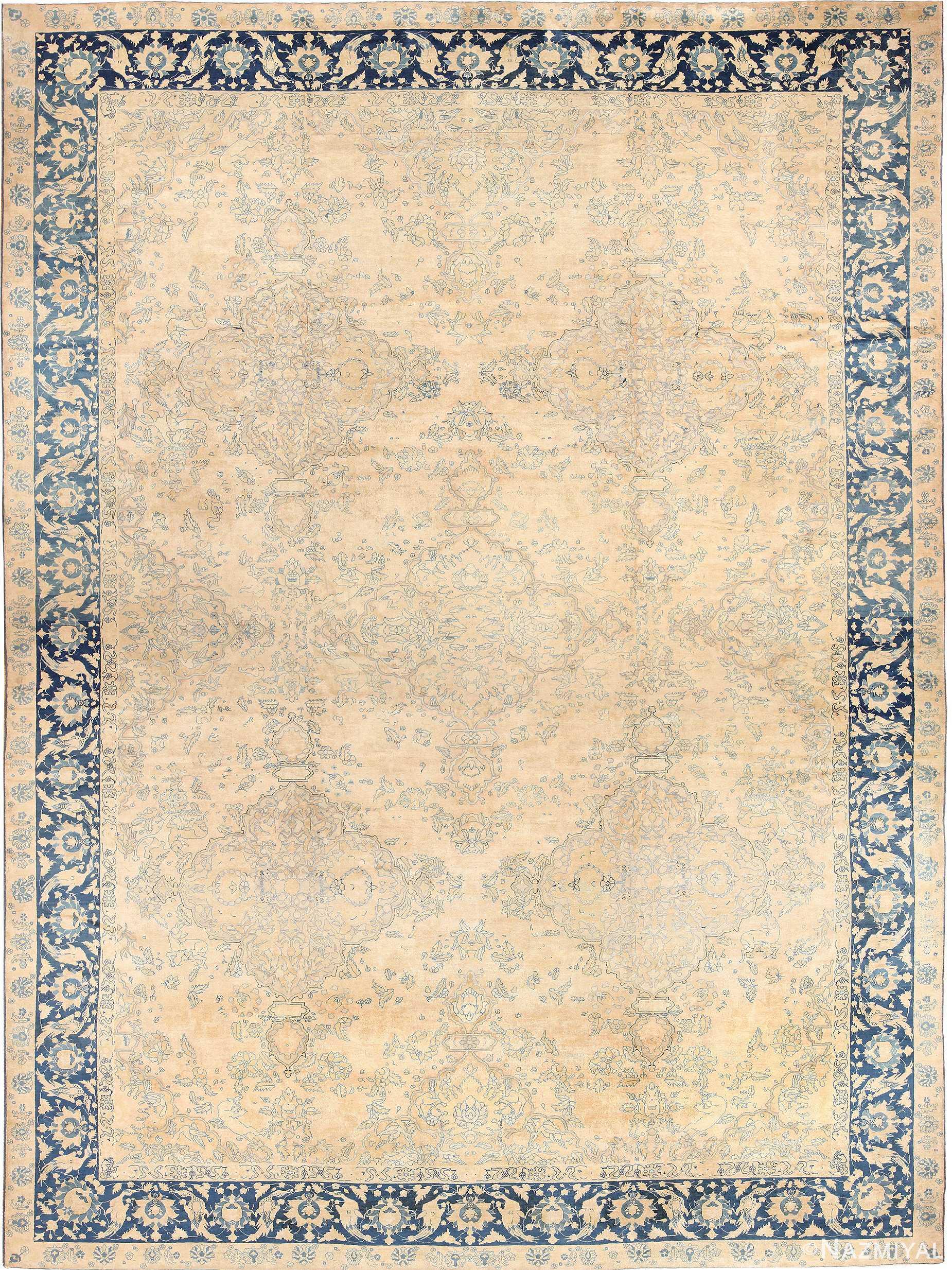 Large Oversized Decorative Antique Indian Agra Rug 49167 Nazmiyal