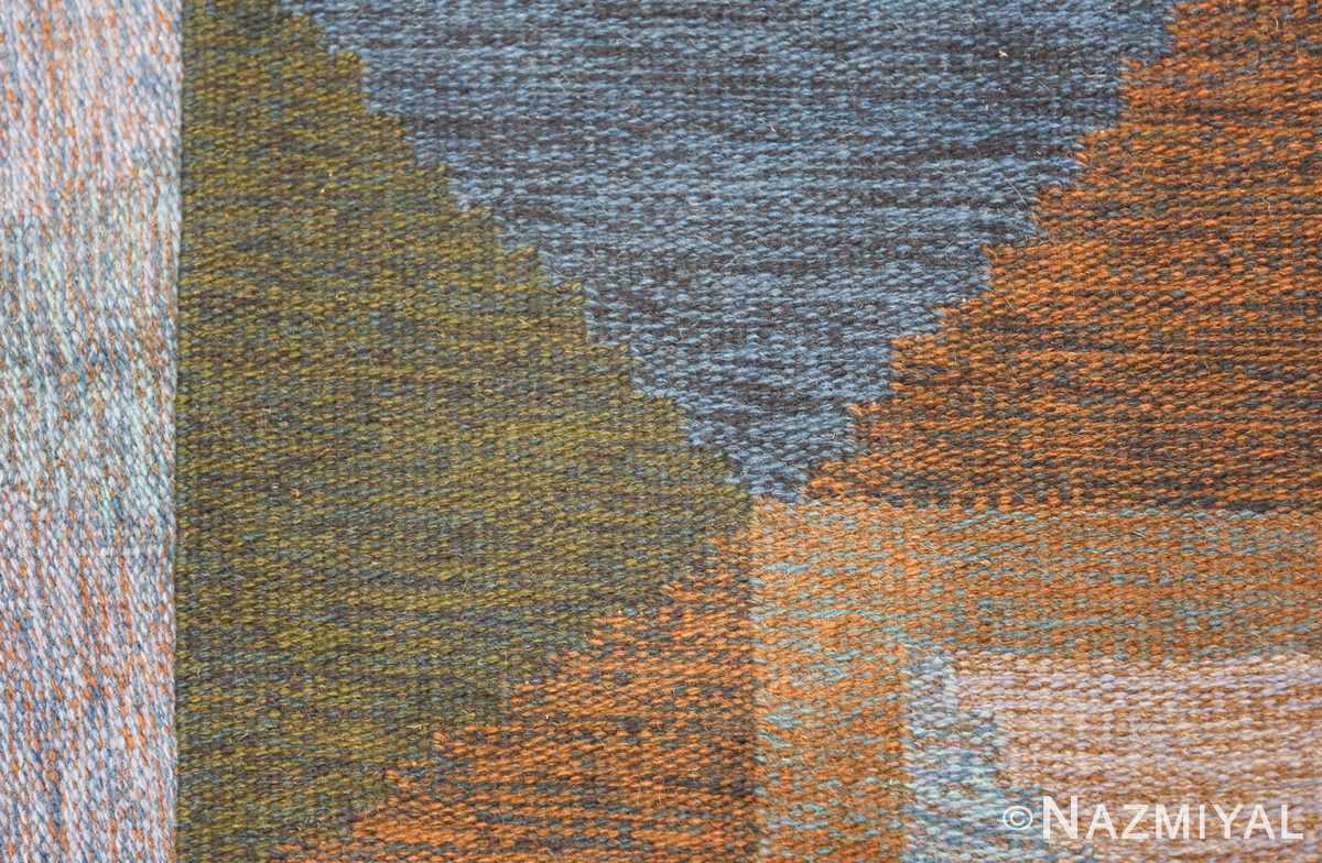 Mid Century Vintage Scandinavian Swedish Kilim rug 49134 colorful knots Nazmiyal