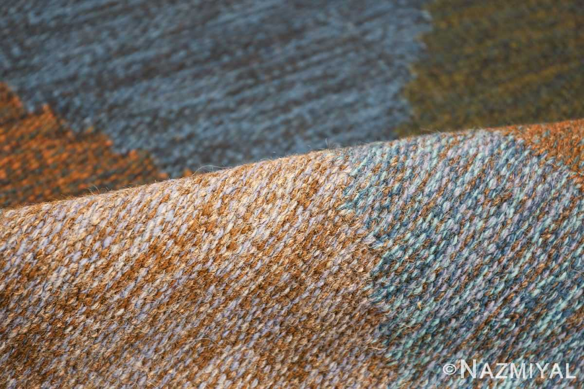 Mid Century Vintage Scandinavian Swedish Kilim rug 49134 colorful pile Nazmiyal
