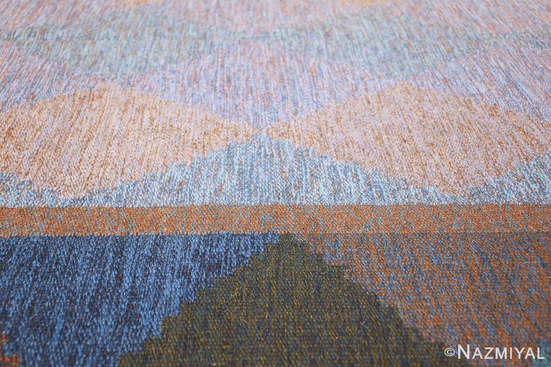 Mid Century Vintage Scandinavian Swedish Kilim rug 49134 field Nazmiyal