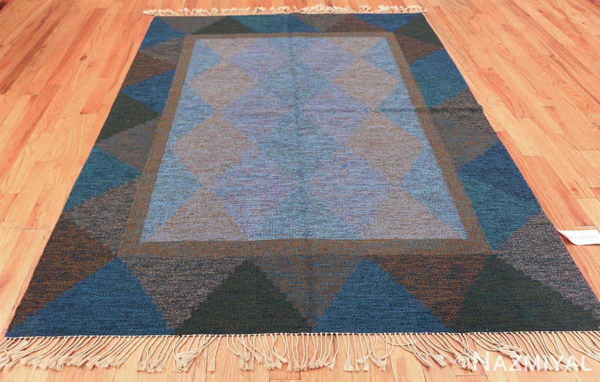 Mid Century Vintage Scandinavian Swedish Kilim rug 49134 whole view Nazmiyal