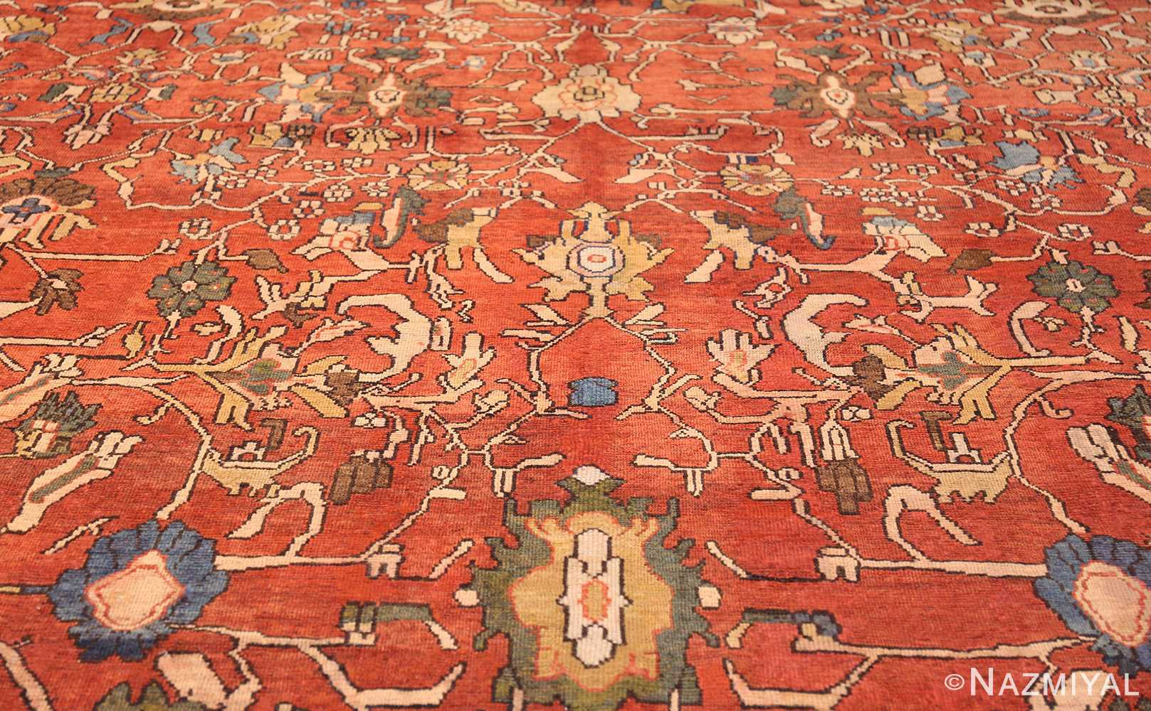 oversize antique persian sultanabad rug 50653 field Nazmiyal