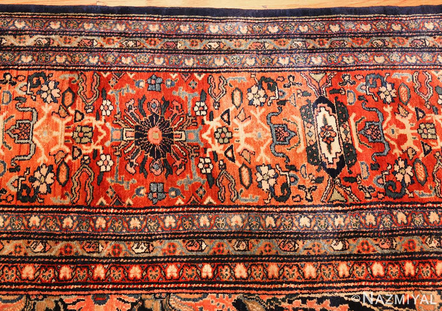 oversized antique persian sarouk farahan rug 49154 border Nazmiyal