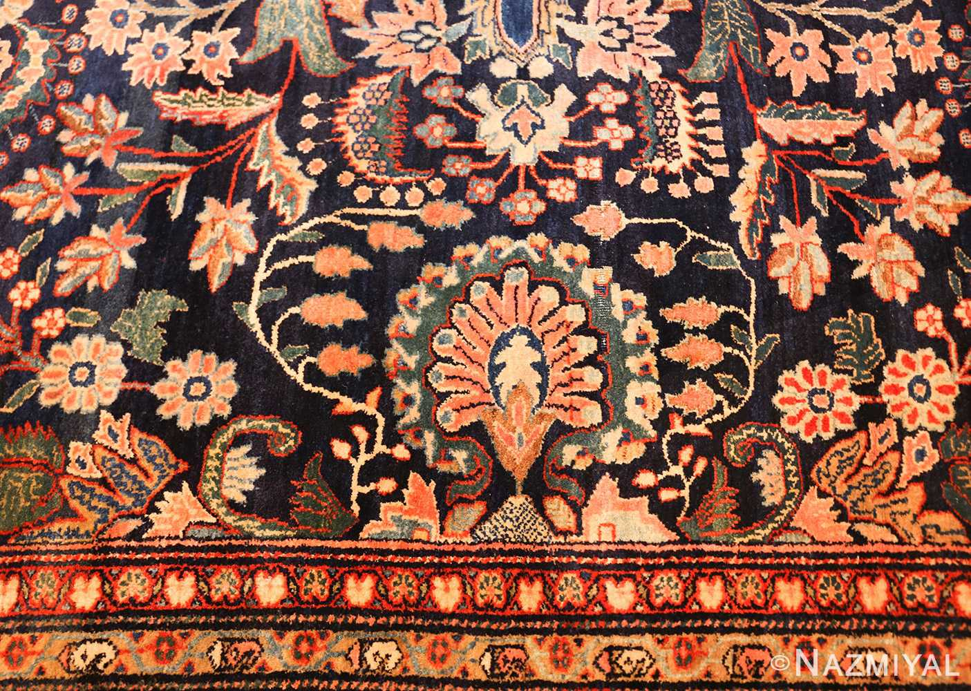 oversized antique persian sarouk farahan rug 49154 bouquet Nazmiyal