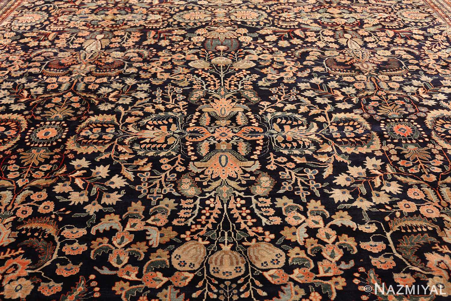 oversized antique persian sarouk farahan rug 49154 field Nazmiyal