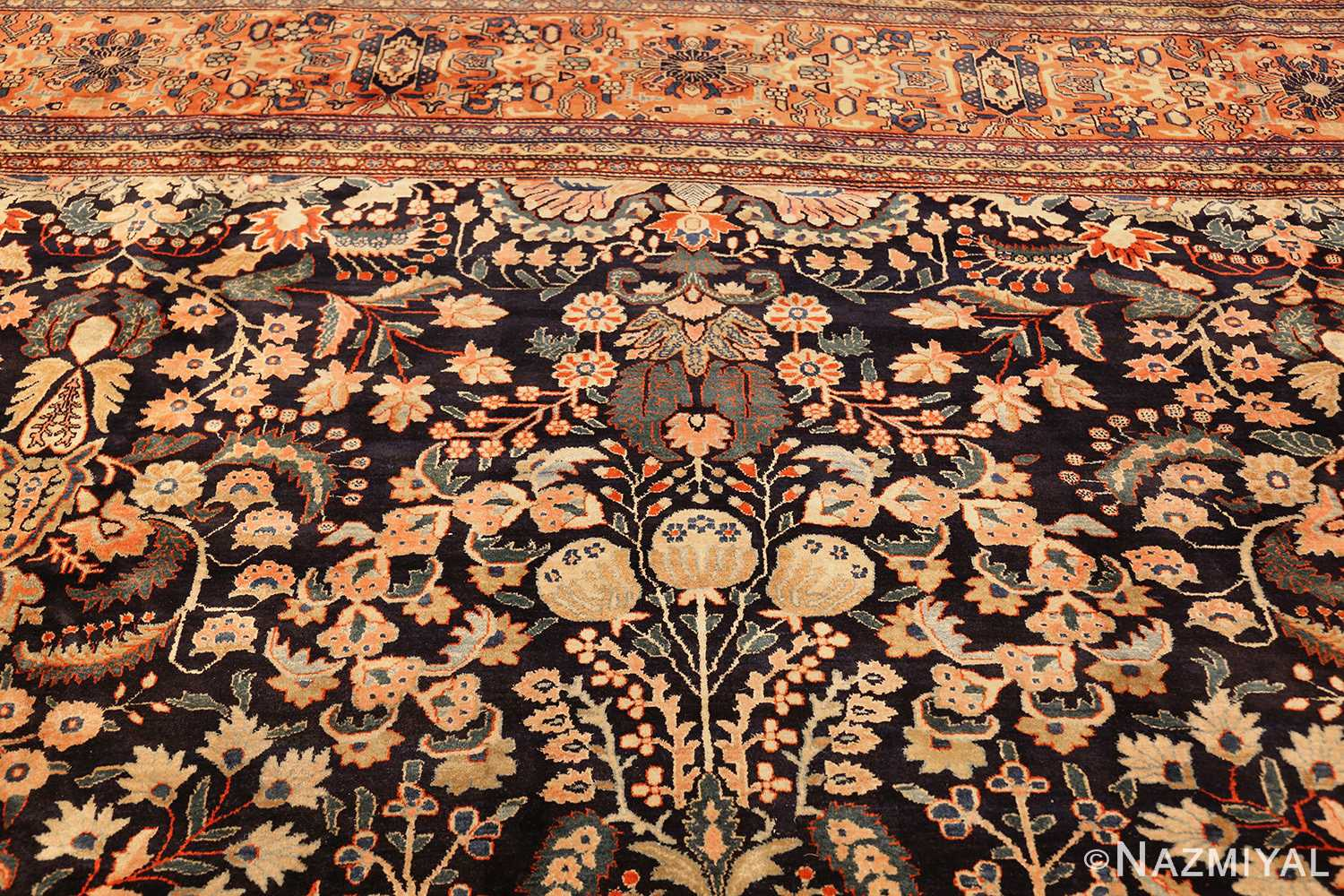 oversized antique persian sarouk farahan rug 49154 top Nazmiyal