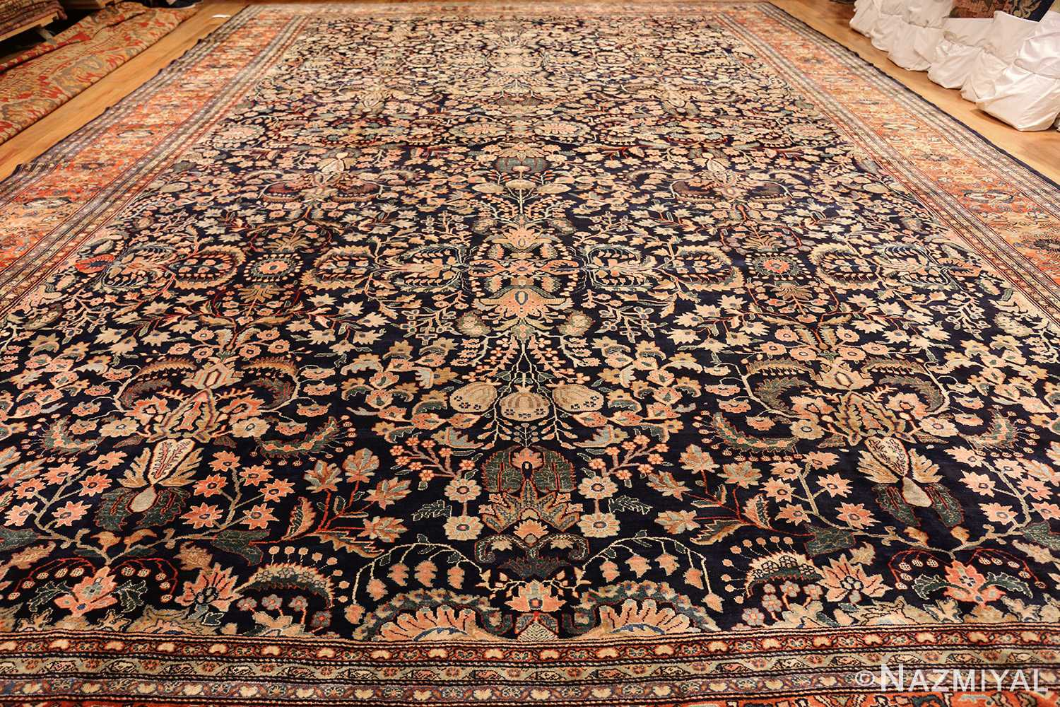 oversized antique persian sarouk farahan rug 49154 whole Nazmiyal