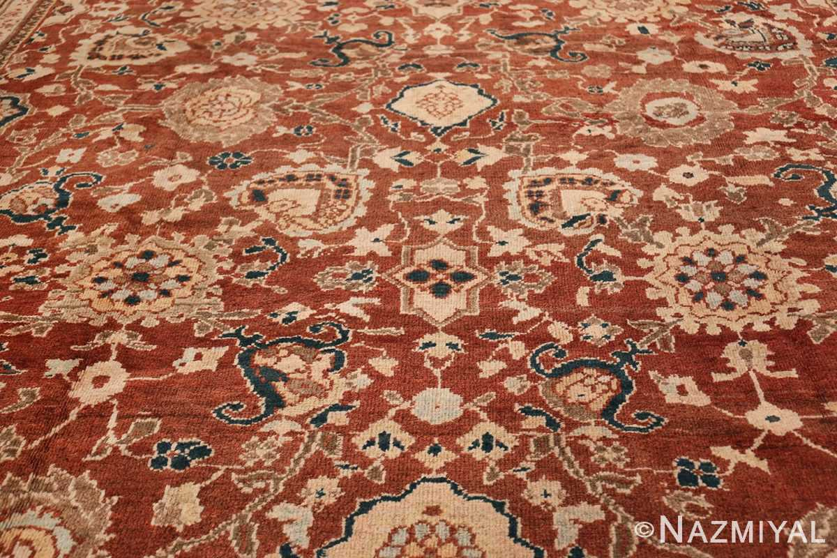 Oversized Antique Persian Sultanabad Rug 49142 Central Medallion Nazmiyal