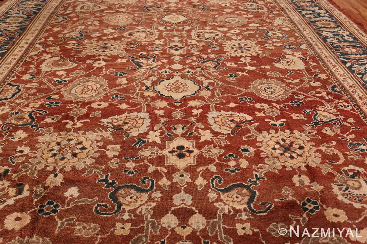 Oversized Antique Persian Sultanabad Rug 49142 Field Design Nazmiyal